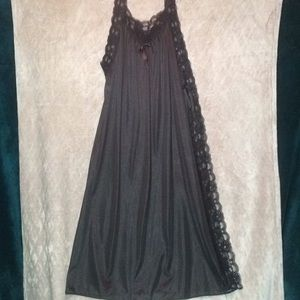 Other - NWOT Black Toga Style Lace Full Length Nightgown